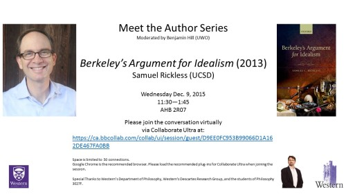 12-09-15 Rickless -- Berkeley's Argument for Idealism